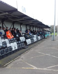 The stands weren't exactly packed for Truro City's FA Trophy tie with Frome Town.